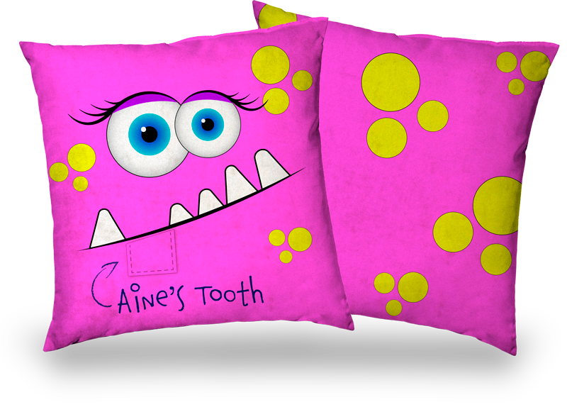 Is your child losing their baby teeth?  The Tooth Fairy Cushion!