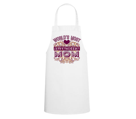 Mother's Day Design - White Apron - All Over Print (Off the shelf design)