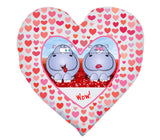 Valentine's - Heart Shaped Cushion (Personalise it!)