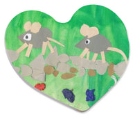 Kid's Art - Heart Shaped Magnet (Personalise it!)