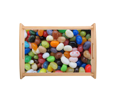 Small Serving Tray - Natural Wood - (Personalise it!)