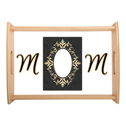 Mother's Day Design - Small Serving Tray - Natural Wood - (Personalise it!)