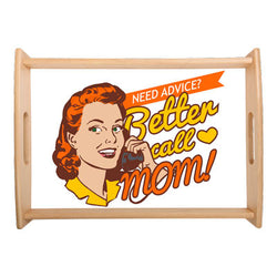 Mother's Day - Small Serving Tray 1 - Natural Wood - (off the shelf design)