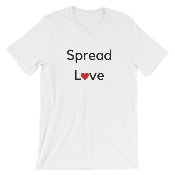 Spread Love (Black Letter) Short-Sleeve Unisex T-Shirt