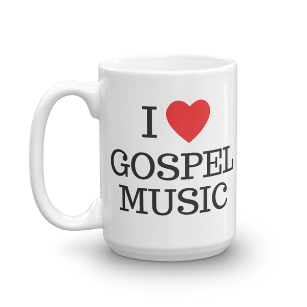 I Heart Gospel Music Mug