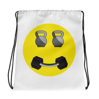 Happy Fitness Face Drawstring bag