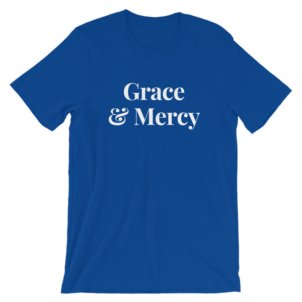Grace & Mercy (White Letter) Short-Sleeve Unisex T-Shirt