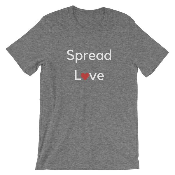 Spread Love (White Letter) Short-Sleeve Unisex T-Shirt