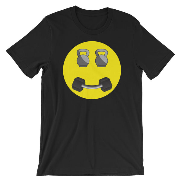Happy Fitness Face Short-Sleeve Unisex T-Shirt