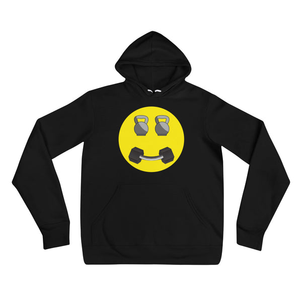 Happy Fitness Face Unisex hoodie