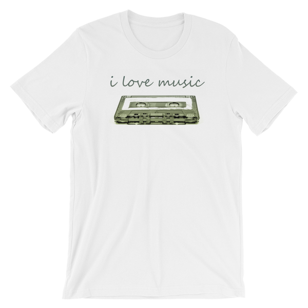 I Love Music Short-Sleeve Unisex T-Shirt