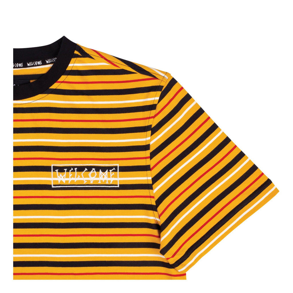Surf Stripe Shortsleeve Knit (Gold/Black/Bone)