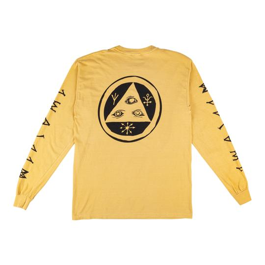 Tali-Scrawl Garment-Dyed Long Sleeve (Mustard/Black)