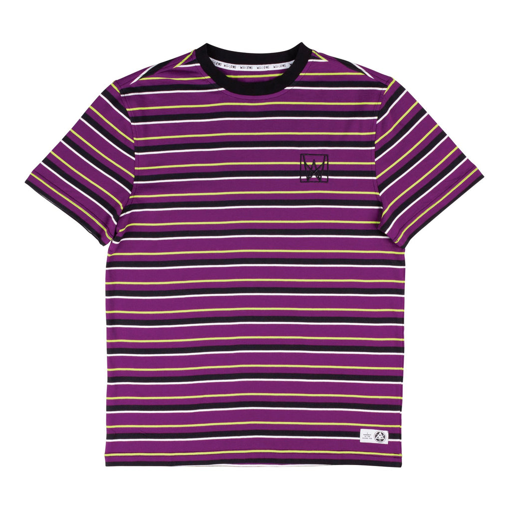 Icon Stripe Shortsleeve (Purple/Black/Lime)