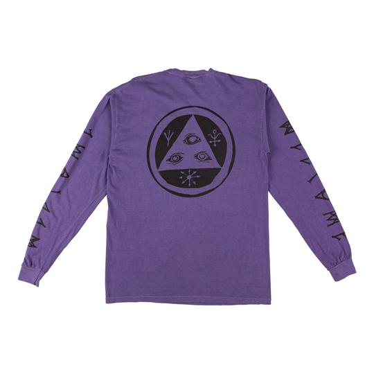 Tali-Scrawl Garment-Dyed Long Sleeve (Grape/Black)