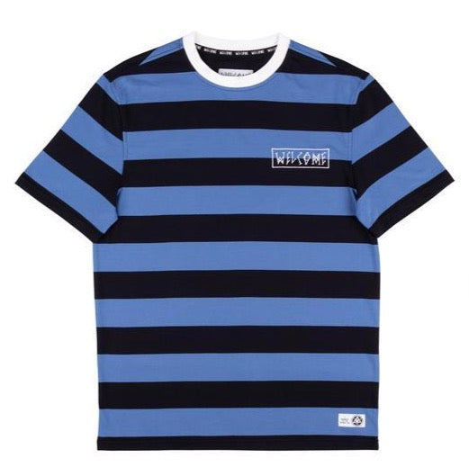 Thicc Stripe Shortsleeve Knit (Blue/Black)