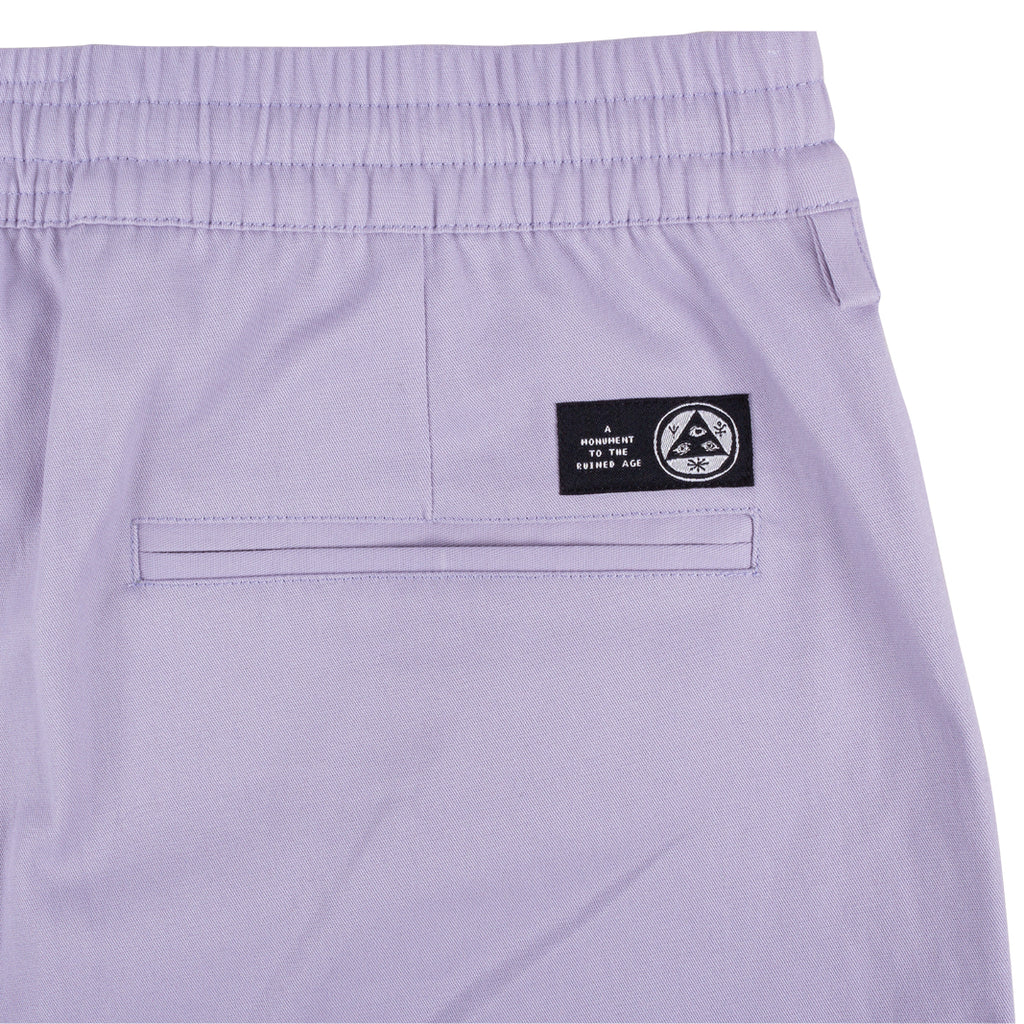 Principal Solid Colour Elastic Pants (Lavender)