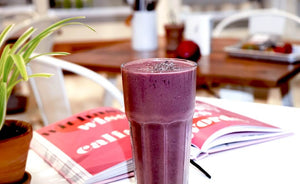 MUST TRY!!! Cacao Powder On Creamy Blueberry Shake and How To Do It