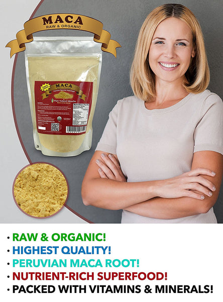 Maca Root Powder, Raw Organic, Best for Hormonal Imbalance by Pure Natural Miracles - ox2ox Gifts and Goods for Everyone