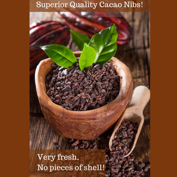 Cacao Nibs, Raw, Organic from the Best Cocoa Beans, 100% USDA Certified by Pure Natural Miracles