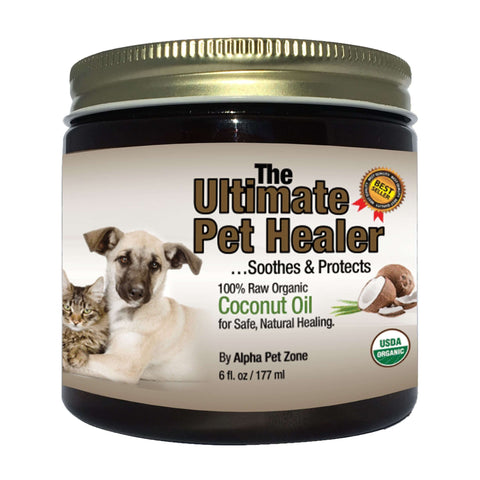 Coconut Oil For Dogs and Pets.  Treats Itchy Skin, Dry Elbows, Paws and Nose - 6 oz