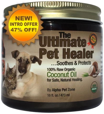 Coconut Oil for Dogs, Treatment for Itchy Skin, Dry Elbows, Paws and Nose by Alpha Pet Zone - ox2ox Gifts and Goods for Everyone