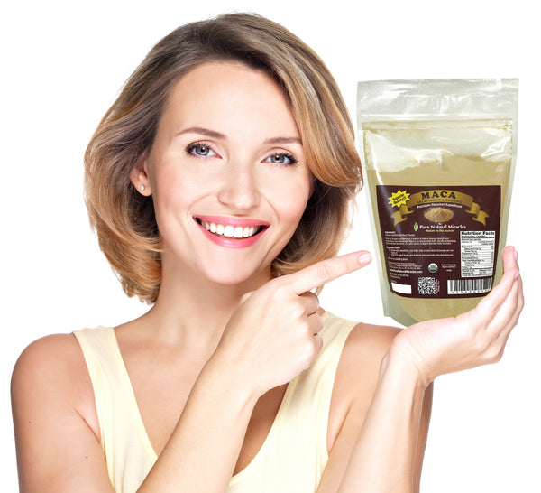 Gelatinized Maca Root Powder, Organic Superfood by Pure Natural Miracles - ox2ox Gifts and Goods for Everyone