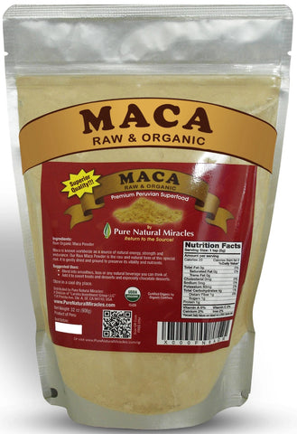 Maca Root Powder, Raw Organic, Best for Hormonal Imbalance by Pure Natural Miracles