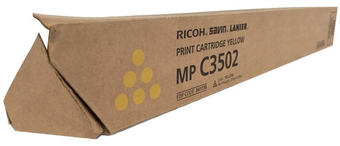 Genuine Ricoh Savin Lanier YELLOW Toner MP C3502 MP C3002 Print Cartridge