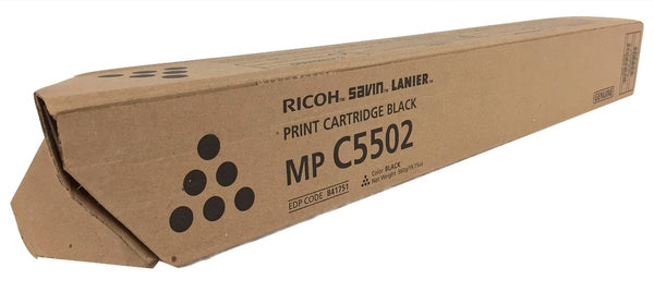 Genuine Ricoh Savin Lanier BLACK Toner MP C5502 MP C4502 Print Cartridge