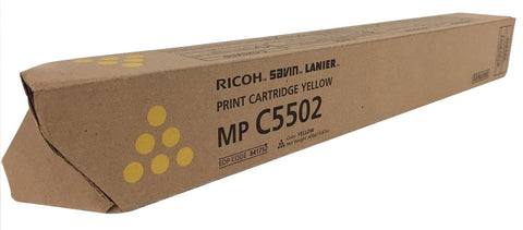 Genuine Ricoh Savin Lanier YELLOW Toner MP C5502 MP C4502 Print Cartridge