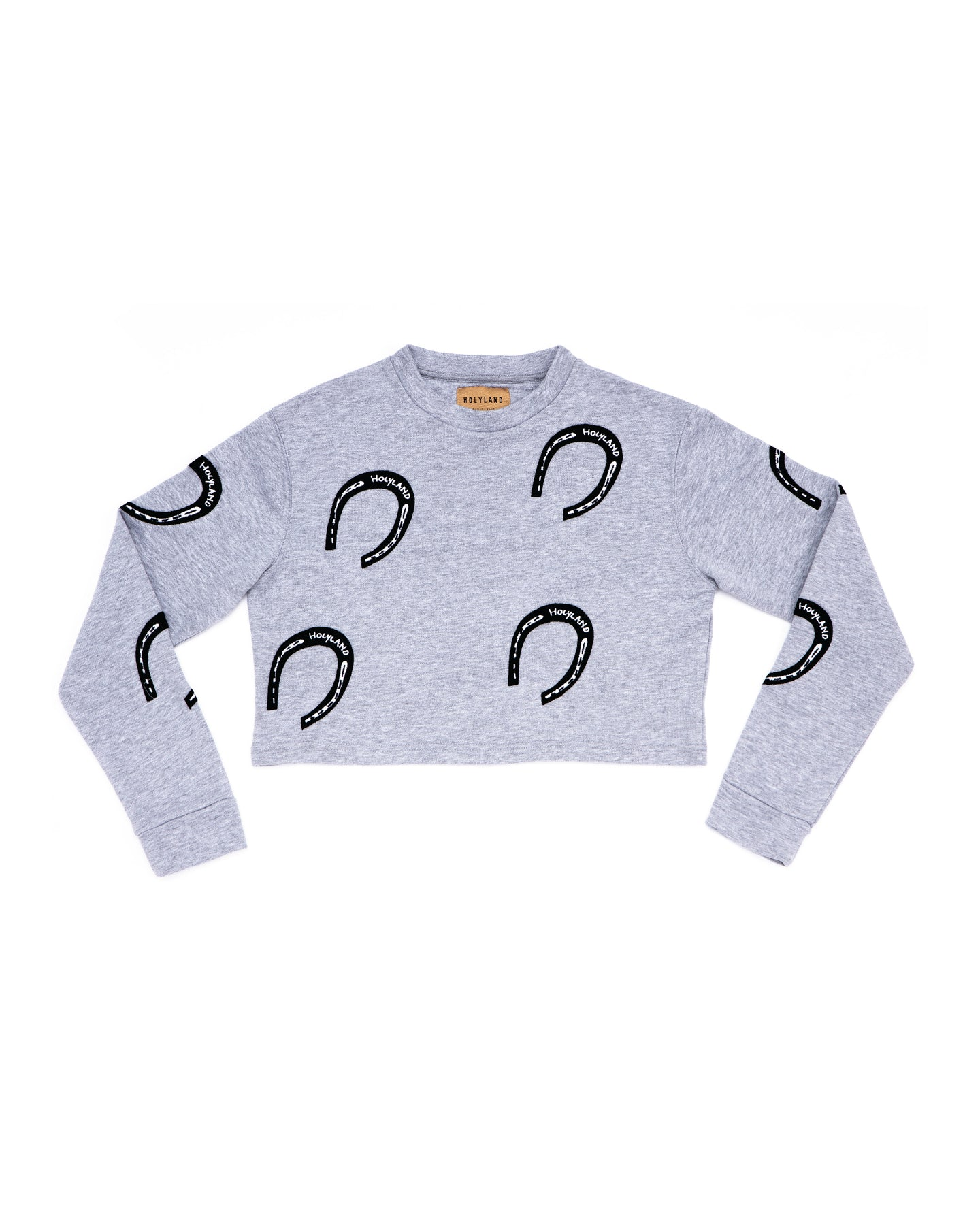 HORSE SHOE CROPPED SWEATER