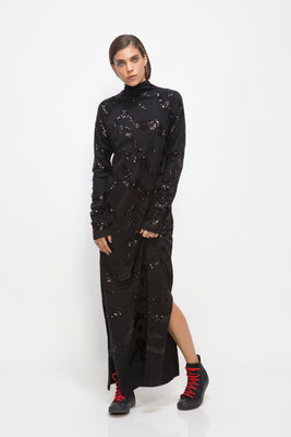 MIDNIGHT TOHU SEQUINS DRESS