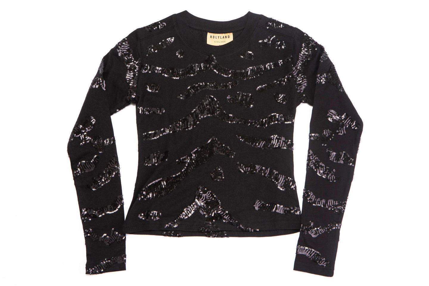 MIDNIGHT SEQUINS LONG SLEEVE T