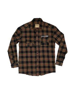 SHEPHERD PLAID BUTTONED SHIRT
