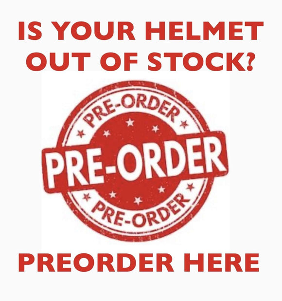 Preorder Out of Stock Inventory | Micro DOT Helmet Co