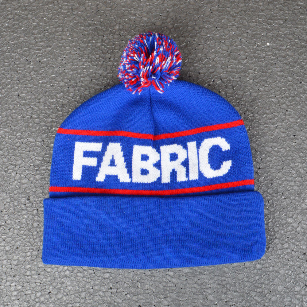 FABRIC DOUGLAS POM POM BEANIE ROYAL BLUE