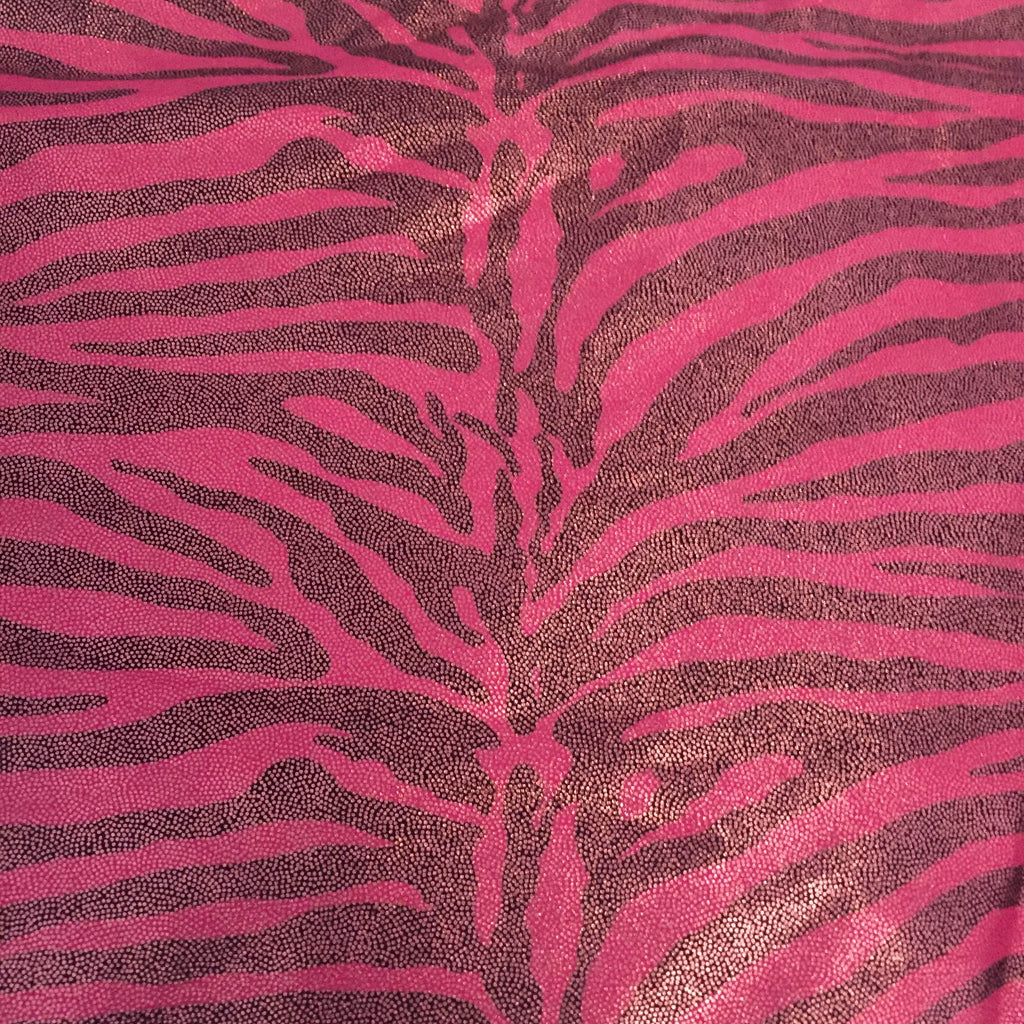 Pink with black zebra print bikini (F2A06)