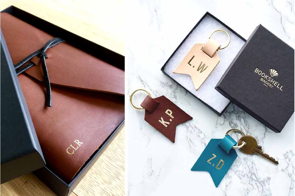 Bookshell Bindery Personalised monogrammed gifts