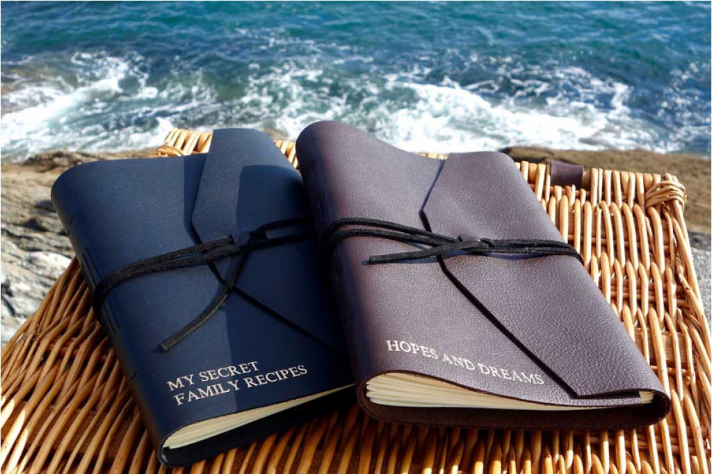 Bookshell Bindery Leather Personalised journals