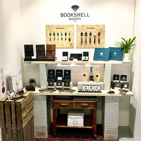 Bookshell Bindery's stand at Top Drawer London 2018