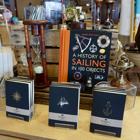 Bookshell Bindery's nautical notebookbooks are now sold in the gift shop of the National Maritime Museum Cornwall