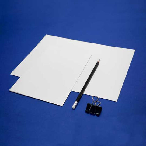 Horizontal A4 White Blank Plain Short Grain Paper