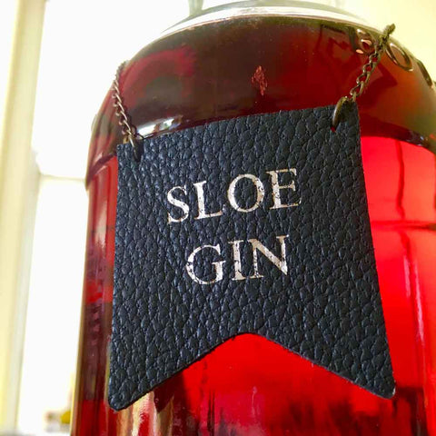 Sloe gin bottle label
