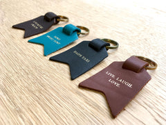 Leather keyrings in all colours