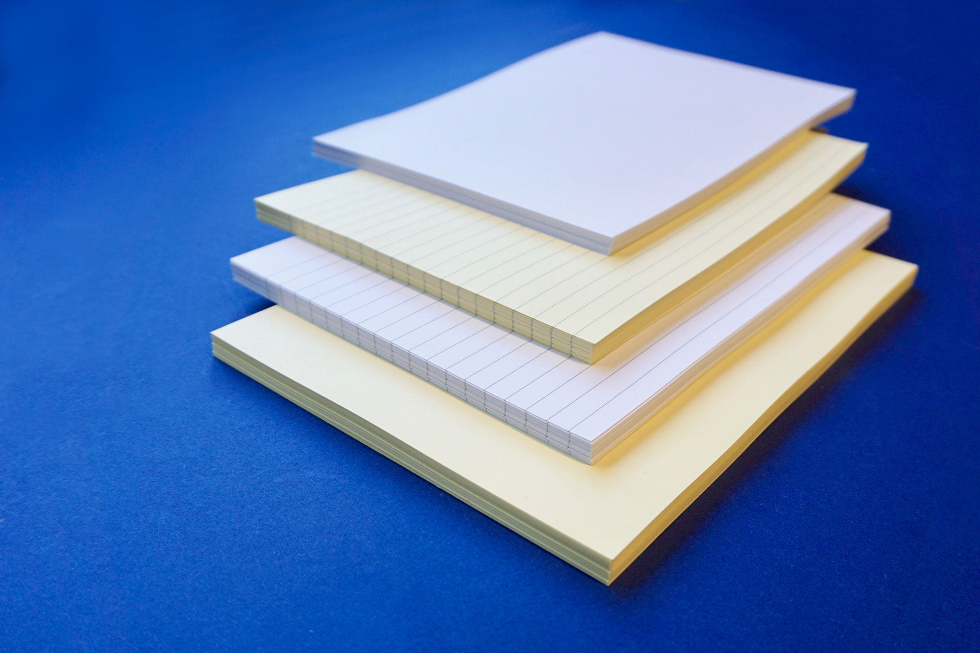Cream Bookbinding Paper, short grain, lined paper , plain paper, blank paper from Bookshell Bindery