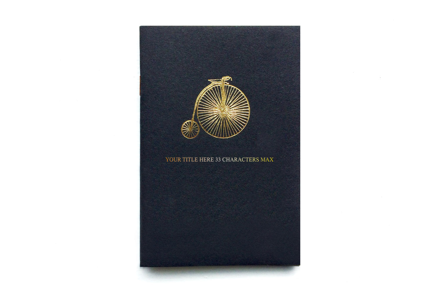 Pocket notebook personalised with your own title, from Bookshell Bindery