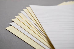 Cream bookbinding paper from Bookshell bindery, cream or white with blank or lined pages