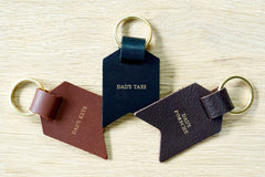 Personalised Keyrings for Dad from Bookshell Bindery, personalised with Dad's Keys; Dad's Taxi; Dad's Porsche