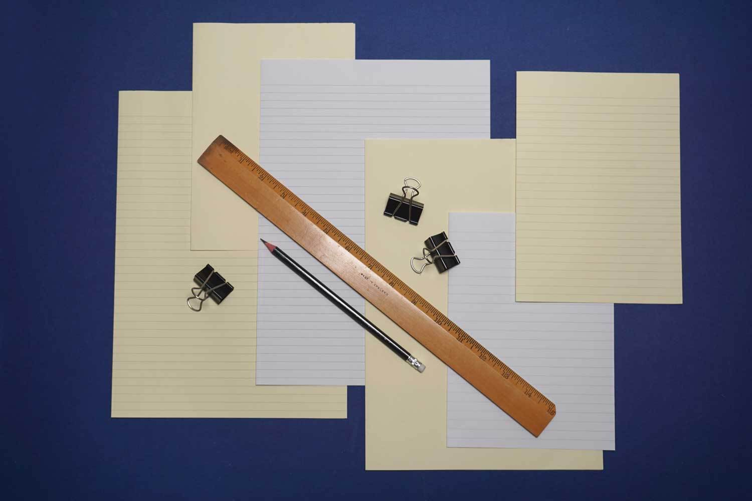 Horizontal Lined Paper for Bookbinding from Bookshell Bindery